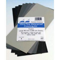 AA 351 - Brúsny papier jemný, 8 listov rôznych hrubostí