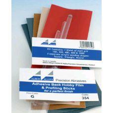 AA 354 - Brúsny papier s tvarovými násadami, 5 listov rôznych hrubostí
