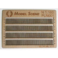 MSC PLN001 - Drevený plot latový, jednoduchý