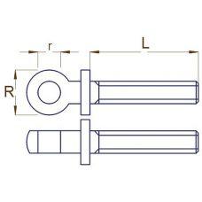 RBM 001 23 - Upínacia pätka, R=2,3 mm, M1,2