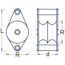 RBM 004 40 - Kladka kovová dvojradá, R4