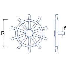 RBM 008 24 - Lodné kormidlo pr. 24 mm