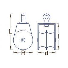 RBM 063 60 - Kladka s otočným držiakom dvojradá R6
