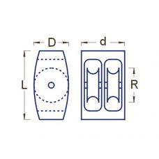 RBM 065 06 - Kladka drevená dvojradá, R6