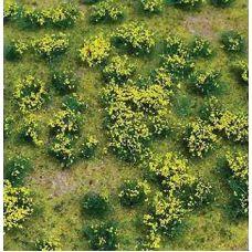 JTT 95605 - Trávne trsy s podložkou, žlto kvitnúce, 12 x 17 cm