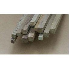 Mid 4637 - Hranol, orech, 6,3 x 6,3 mm