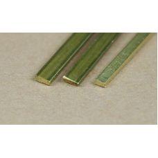 KS 9843 - Pásovina, mosadz, hr. 1,0 x 6,0 mm, 3 ks