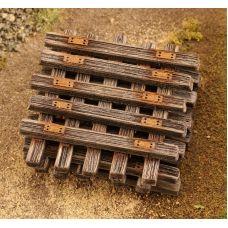 MSC 48502 - Staré drevené pražce H0, 50 ks