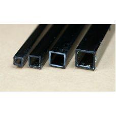 Rab 435-59/3 - Hranol dutý, priehľadný hnedý, štvorcový, 6,0 x 6,0 mm, vnútorný rozmer 5,0 x 5,0 mm, jeden kus