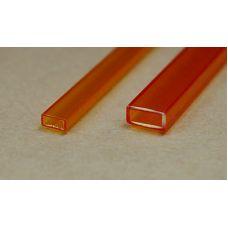 Rab 441-53/3 - Hranol dutý, priehľadný oranžový, obdlžníkový, 2,0 x 4,0 mm, jeden kus