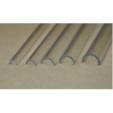 Rab 451-53/3 - Žľab priehľadný, vonkajší priemer 4,0 mm, vnútorný priemer 2,5 mm, jeden kus