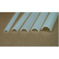 Rab 452-55/3 - Žľab priehľadný mliečny, vonkajší priemer 5,0 mm, vnútorný priemer 3,5 mm, jeden kus