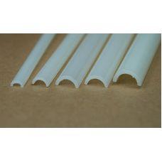 Rab 452-61/3 - Žľab priehľadný mliečny, vonkajší priemer 8,0 mm, vnútorný priemer 6,0 mm, jeden kus