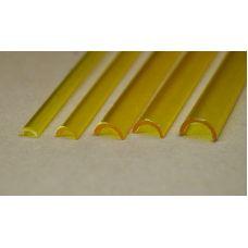 Rab 453-59/3 - Žľab priehľadný žltý, vonkajší priemer 7,0 mm, vnútorný priemer 5,0 mm, jeden kus