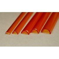 Rab 454-59/3 - Žľab priehľadný oranžový, vonkajší priemer 7,0 mm, vnútorný priemer 5,0 mm, jeden kus
