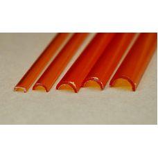 Rab 454-61/3 - Žľab priehľadný oranžový, vonkajší priemer 8,0 mm, vnútorný priemer 6,0 mm, jeden kus