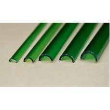 Rab 457-57/3 - Žľab priehľadný zelený, vonkajší priemer 6,0 mm, vnútorný priemer 4,5 mm