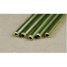 KS 8125 - Trubka, mosadz, vonkajší priemer 1,6 mm, vnútorný priemer 0,8 mm, hrúbka steny 0,35 mm, 3 ks