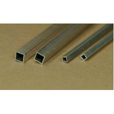 KS 83010 - Uzavretý štvorcový profil dutý, hliník, 2,4 x 2,4 mm, stena 0,35 mm