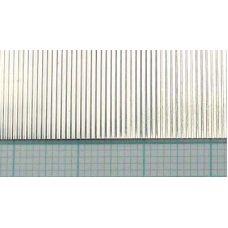 KS 16130 - Vlnitý plech, hliník, rozteč vĺn 0,75 mm, hrúbka 0,05 mm