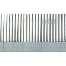 KS 16132 - Vlnitý plech, hliník, rozteč vĺn 1,5 mm, hrúbka 0,05 mm