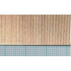 KS 16140 - Vlnitý plech, meď, rozteč vĺn 0,75 mm, hrúbka 0,05 mm