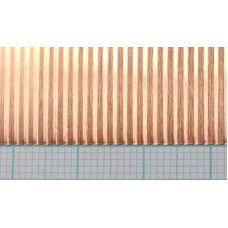 KS 16142 - Vlnitý plech, meď, rozteč vĺn 1,5 mm, hrúbka 0,05 mm