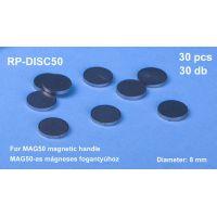 RP-DISC50/2 - Kovový krúžok pre držiak RP-MAG50, priemer 8 mm, 2 ks