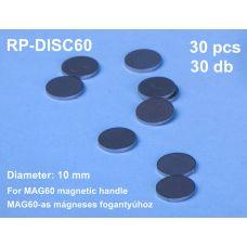 RP-DISC60/2 - Kovový krúžok pre držiak RP-MAG60, priemer 10 mm, 2 ks